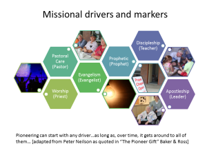 Missional drivers and markers